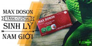 Max Doson - Thuốc chống xuất tinh sớm tốt nhất